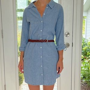 Joie Cotton Blue dress with belt